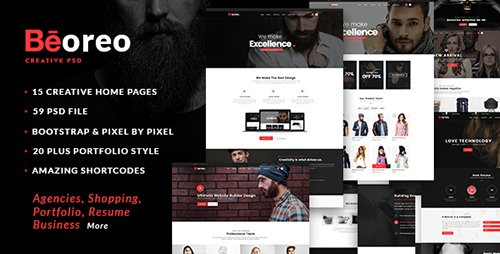 ThemeForest - Beoreo v1.0 - Multi-Purpose PSD Template - 14784951