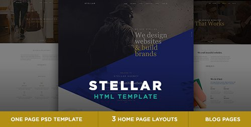 ThemeForest - Stellar v1.0 - One page multipurpose html template - 14550203