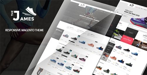 ThemeForest - James v1.0 - Responsive Magento Shoes Theme - 12982019