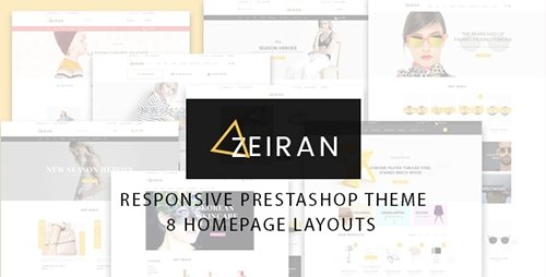 ThemeForest - Zeiran v1.0 - Multipurpose Responsive Prestashop Theme - 13837454