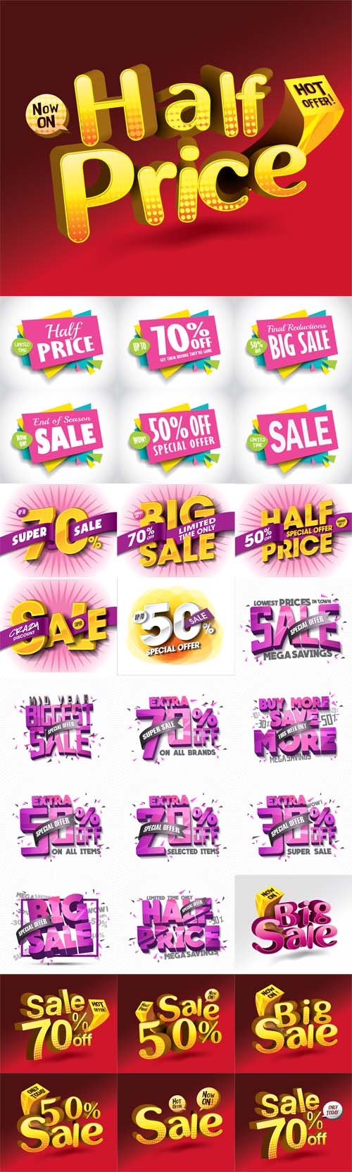 Vector Sale Concept Banners