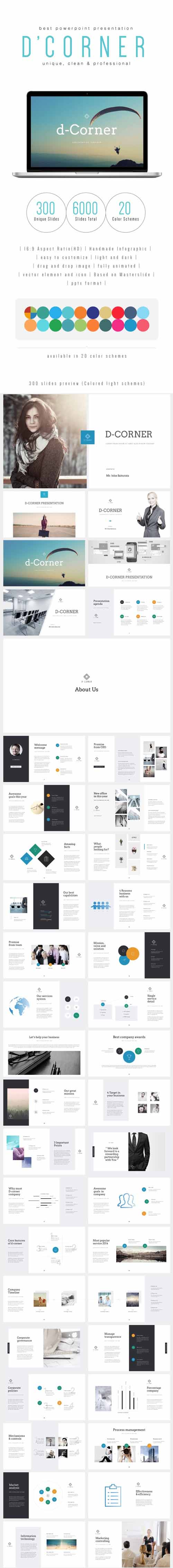 GR - D-CORNER - Multipurpose PowerPoint Template (V.34) 19237080