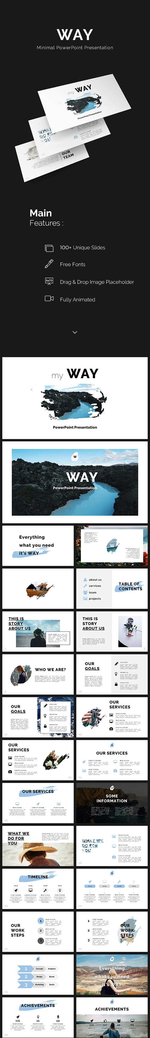 GR - Way Minimal PowerPoint Template 19444626