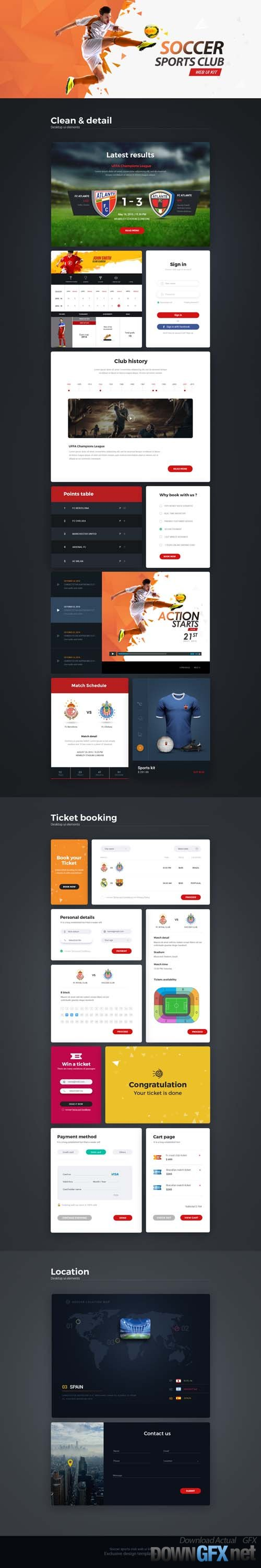 Soccer Sports Club Web UI Kit