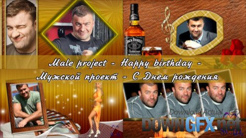Male Happy birthday - Project ProShow Producer