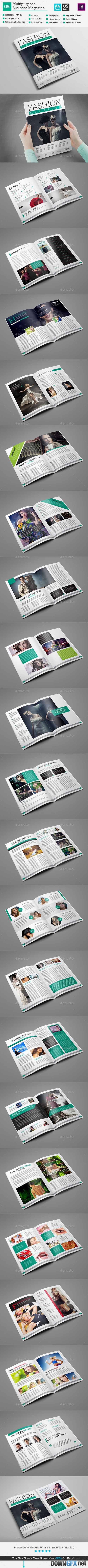 Fashion Magazine Template - InDesign 42 Page_V5 10954902