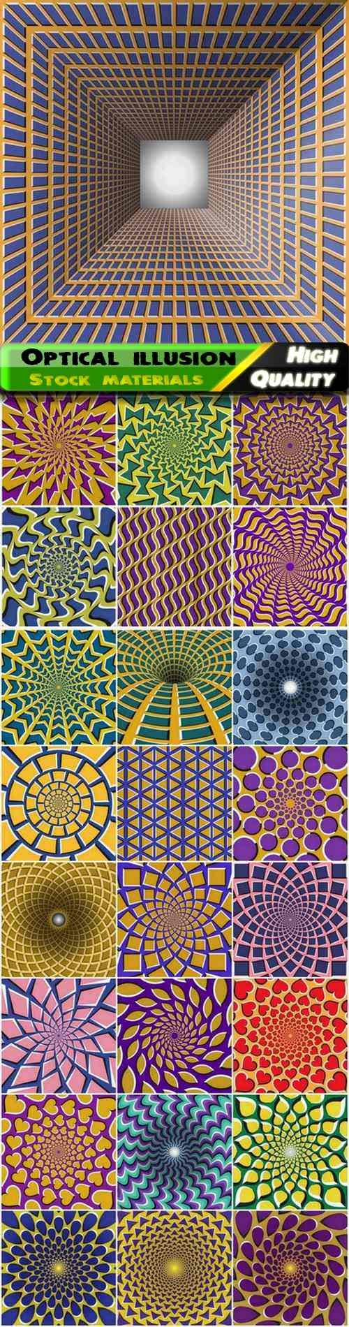 Abstract creative psychedelic background with optical illusion 25 Eps