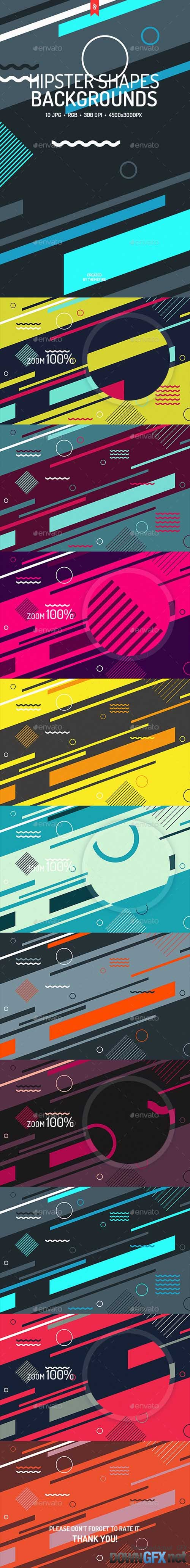 Abstract Hipster Shapes Backgrounds 19539167