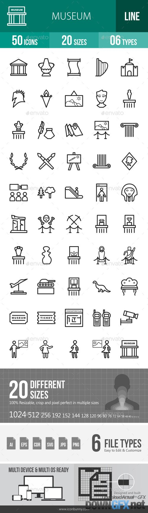 Museum Line Icons 17953567