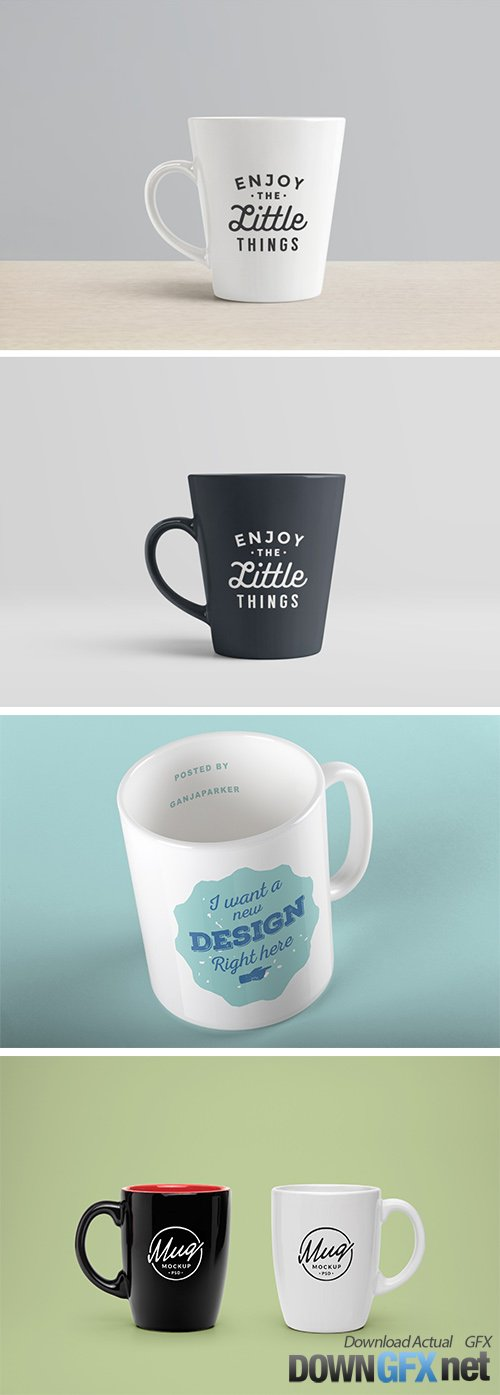 PSD Mock-Up's - Mugs