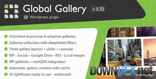 CodeCanyon - Global Gallery v5.312 - Wordpress Responsive Gallery - 3310108