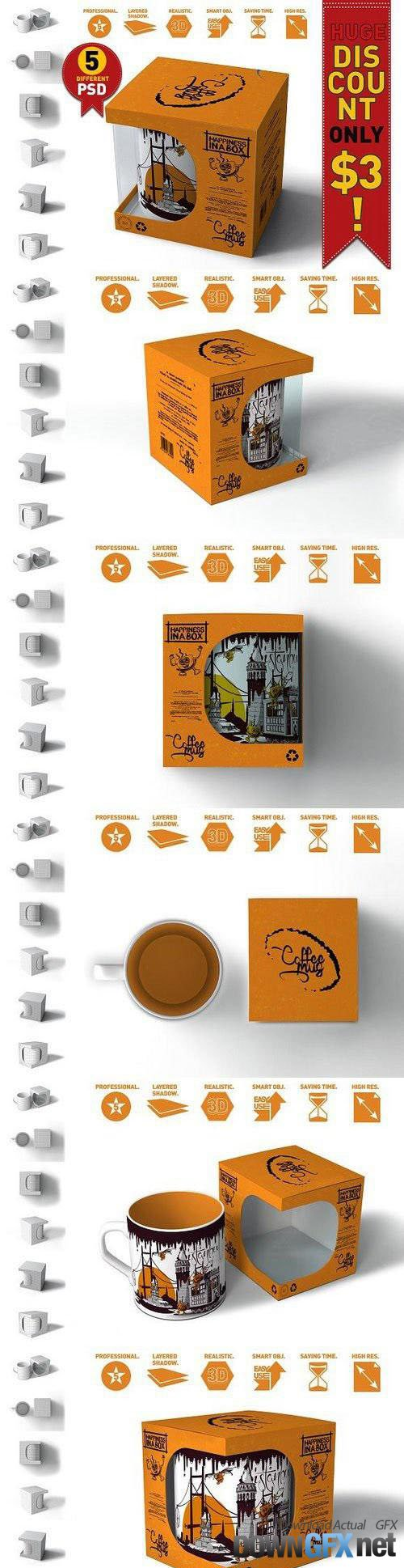Mug & Box Mock-up 1162929