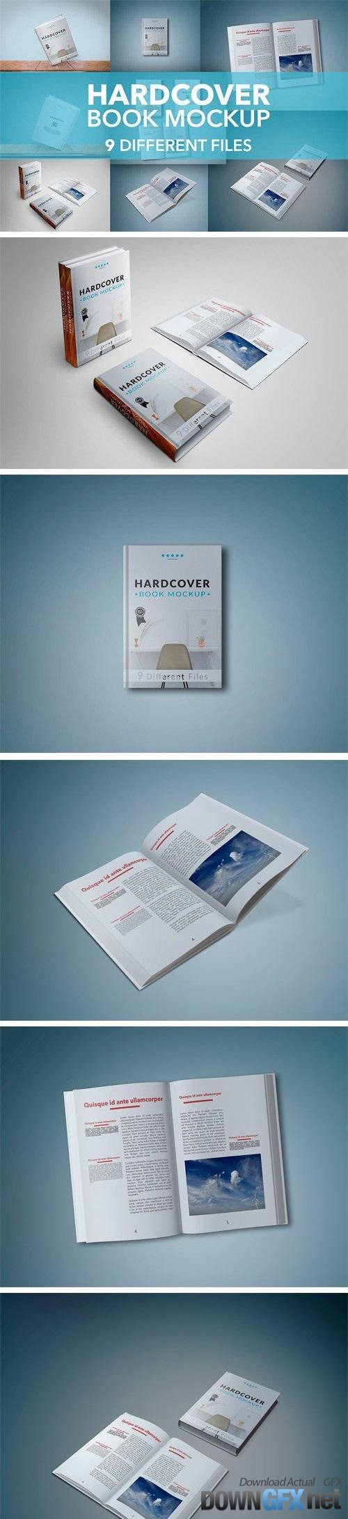 9 Hardcover Book Mockup Bundle - 1361463