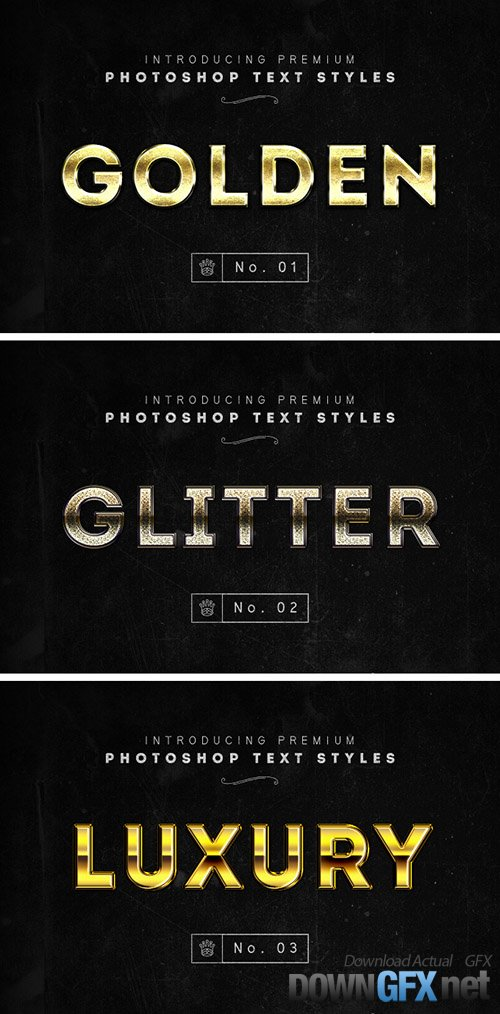 PSD & ASL Text Effects - Gold Text Styles