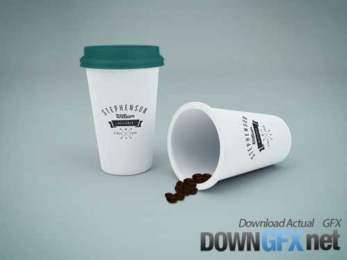 PSD Mock-Up - Coffee Cup 2017