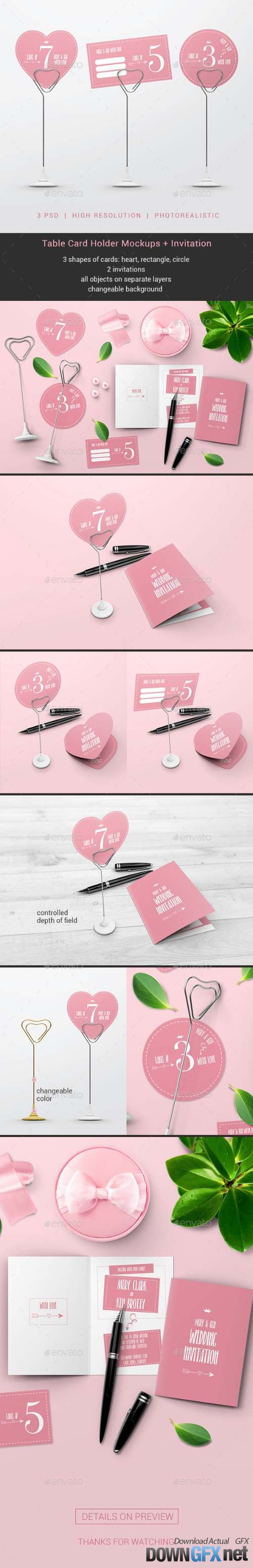 Table Card Holder Mockups 19757621