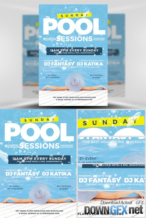 Flyer Template - Pool Party