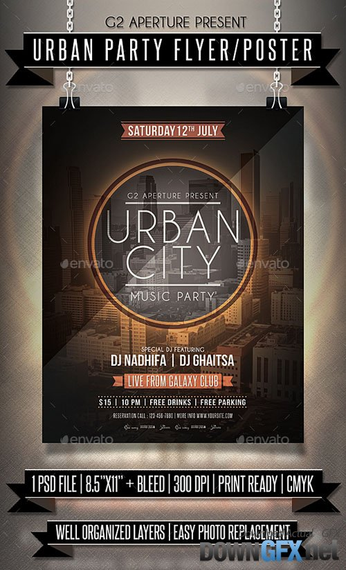 Urban Party Flyer / Poster 19956383