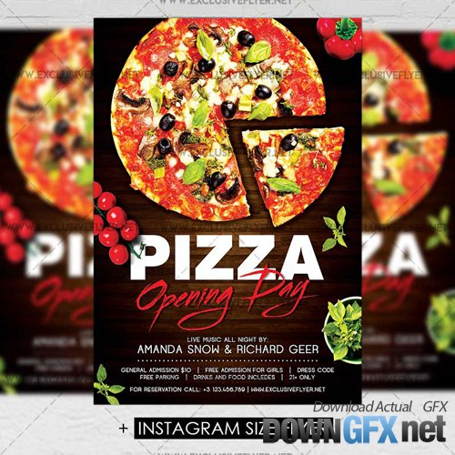 Premium A5 Flyer Template - Pizza Opening