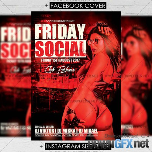Premium A5 Flyer Template - Friday Social