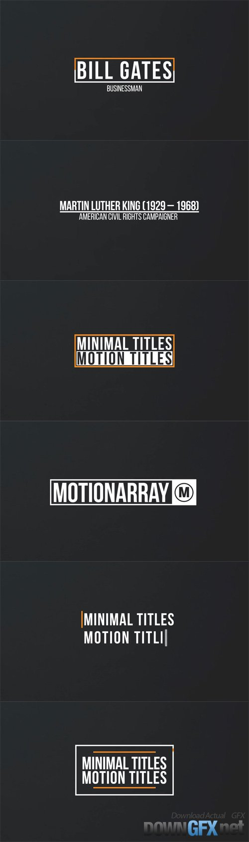 AE Template - Minimal Motion Titles