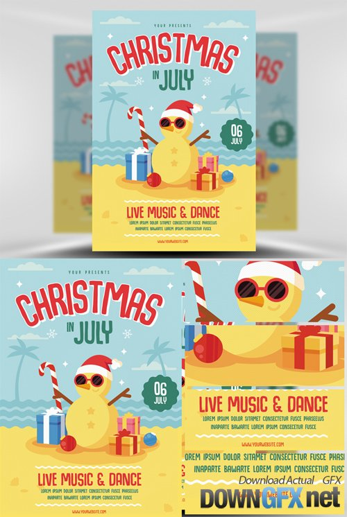 Flyer Template - Christmas in July