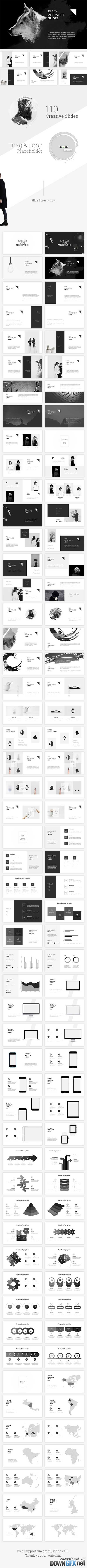 Black and White Powerpoint Template 20006597