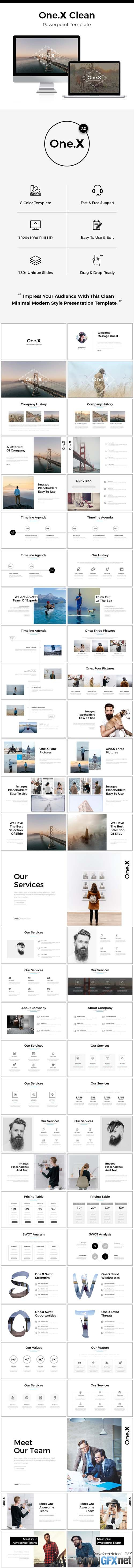 One.X 2.0 Clean Powerpoint Template 20059021