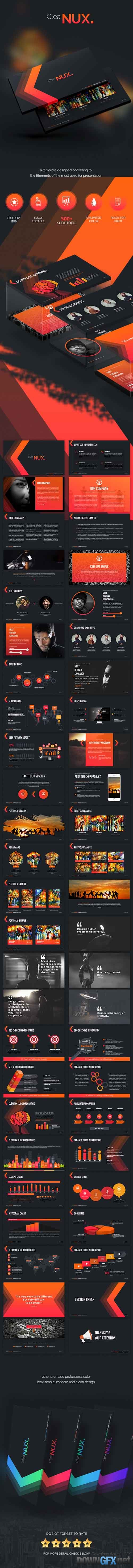 Cleanux - Powerpoint Presentation Template 20071999