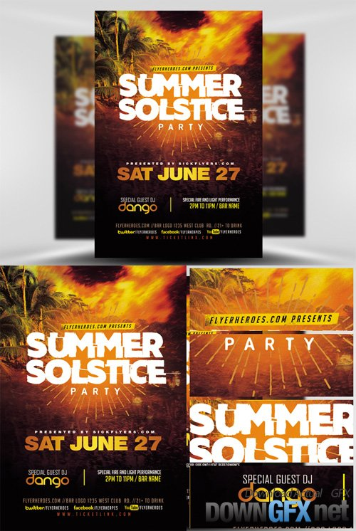 Flyer Template - Summer Solstice V2