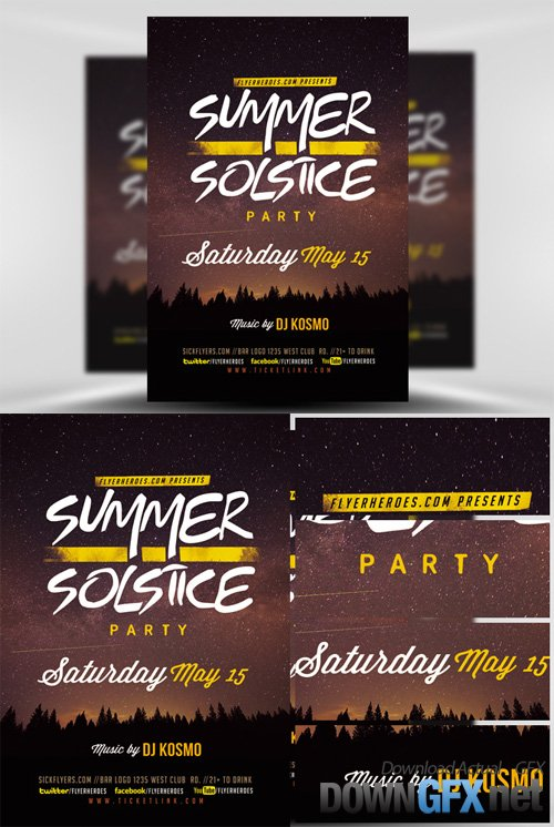 Flyer Template - Summer Solstice