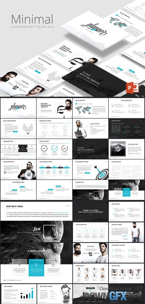 Minimal Powerpoint Template