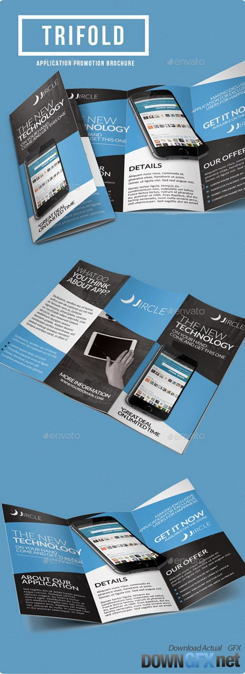 App Promotion Trifold Brochure 9258240