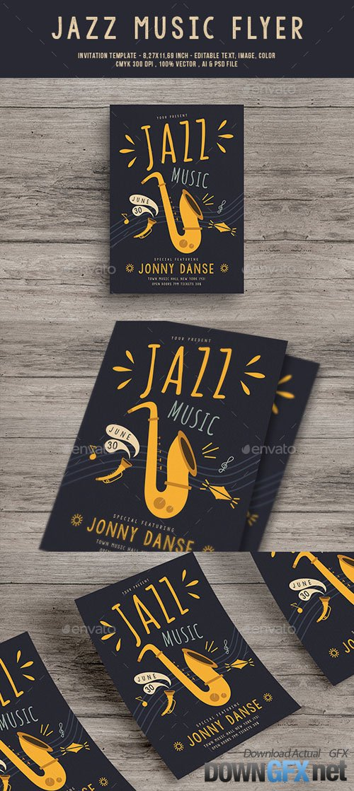Jazz Music Flyer 20124972