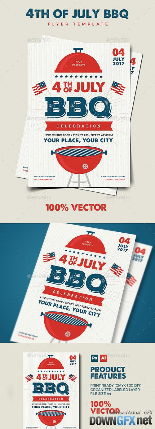 4th July BBQ Flyer 20153137
