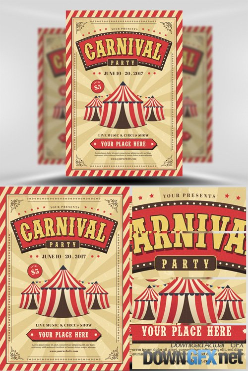 Flyer Template - Carnival Event Party