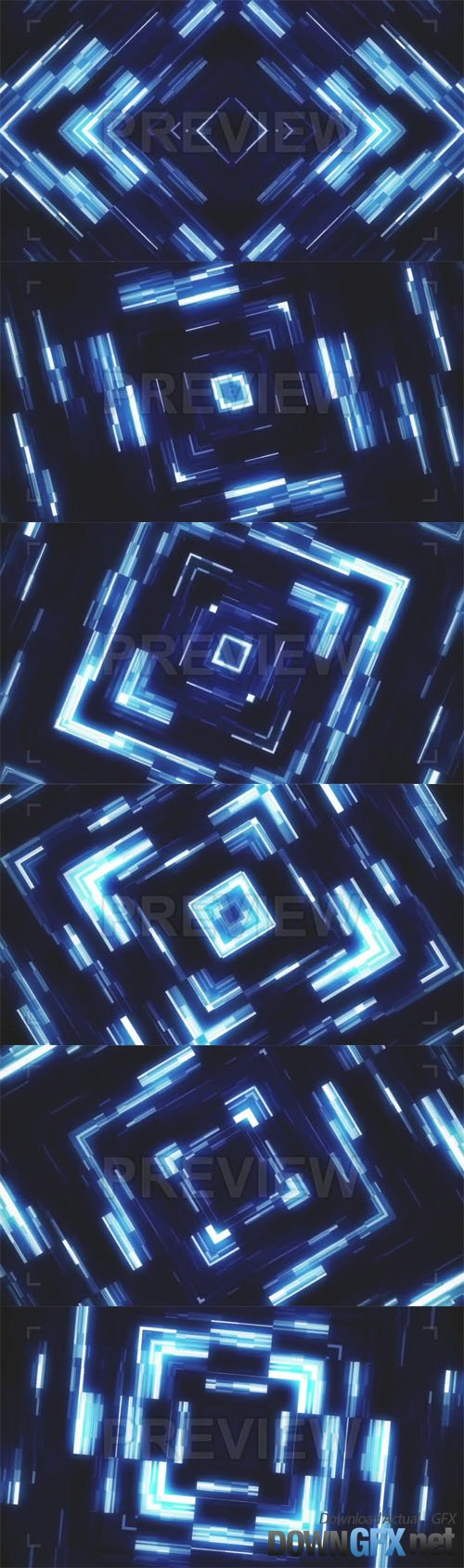 Glowing KaleidoSquares Abstract Vj Loop