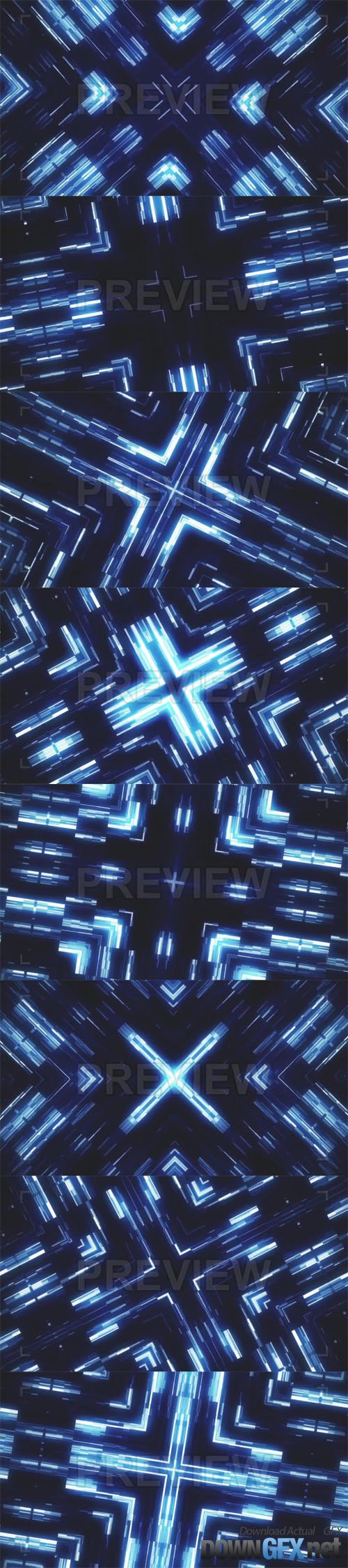 Glowing Squares Abstract Vj Loop