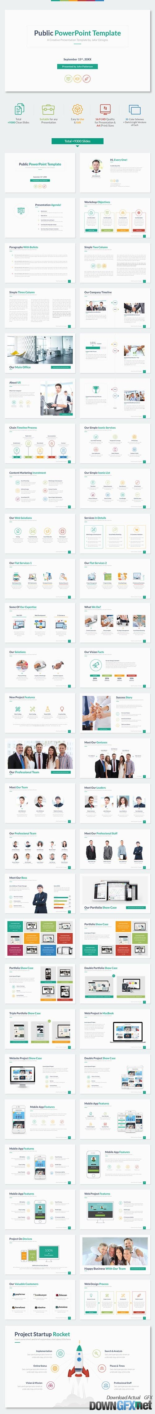 Public PowerPoint Template 12953750