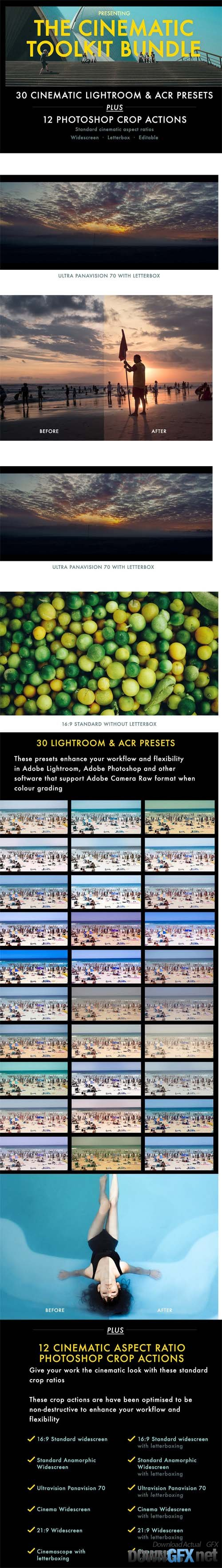 Cinematic Aspect Ratio Action & Lightroom Presets
