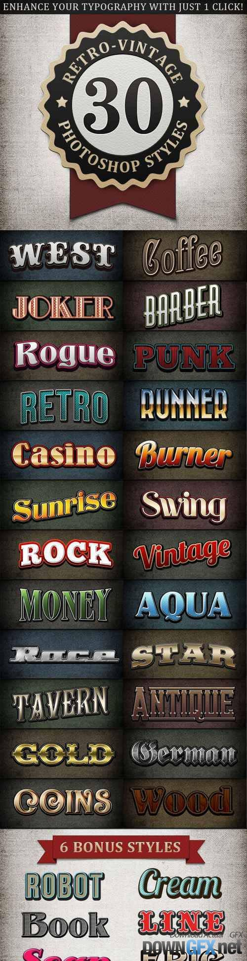 GR - Retro - Vintage Text Styles Bundle 1054716