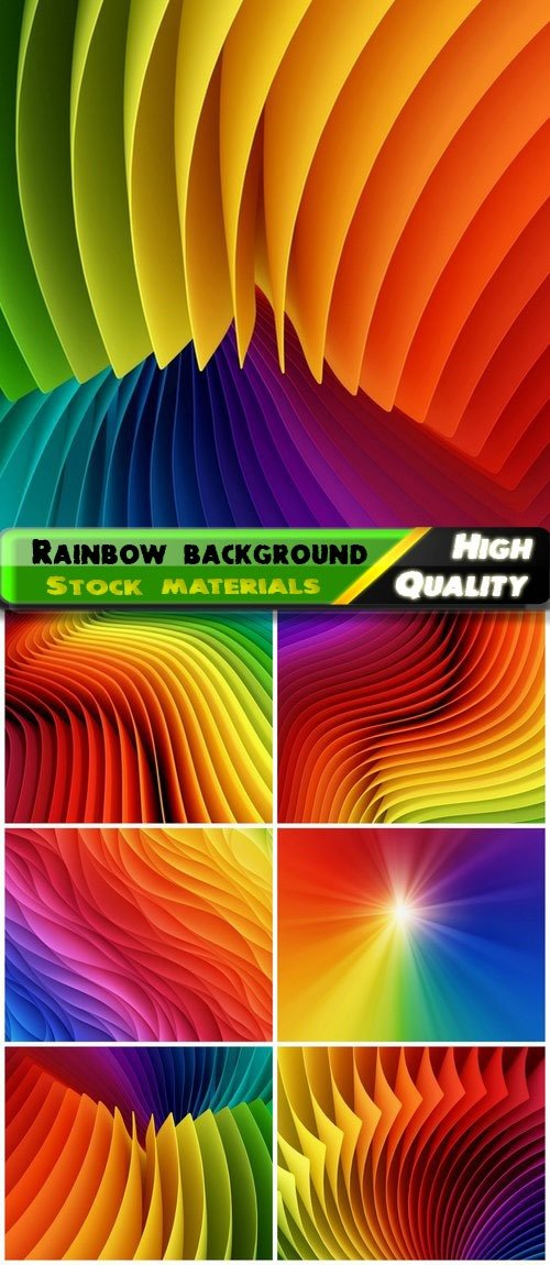 Rainbow colored wavy abstract background 6 HQ Jpg