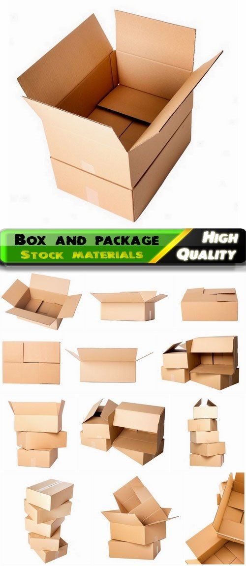 Cardboard and paper empty box and package delivery concept 14 Jpg