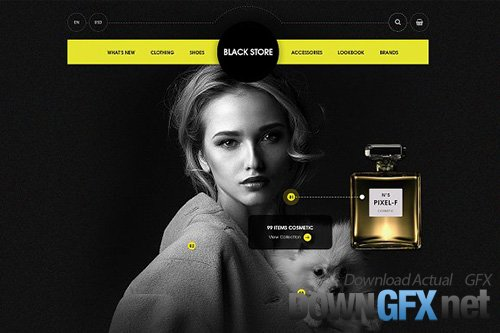 Black Store - PSD Ecommerce Template - CM 1672320