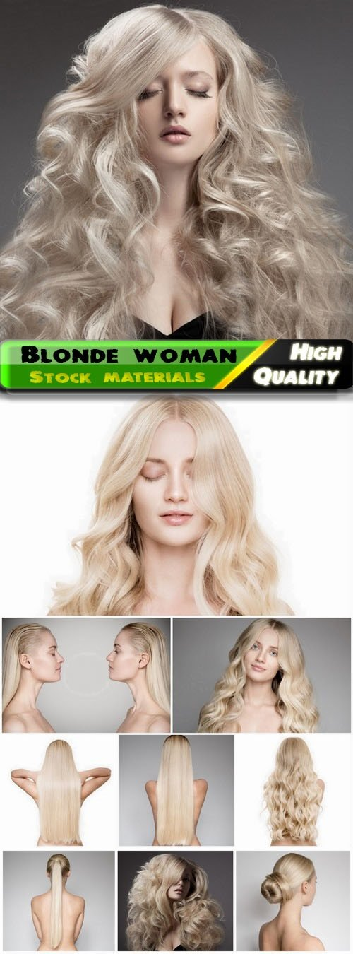Blonde woman and girl with long healthy hair 10 HQ Jpg