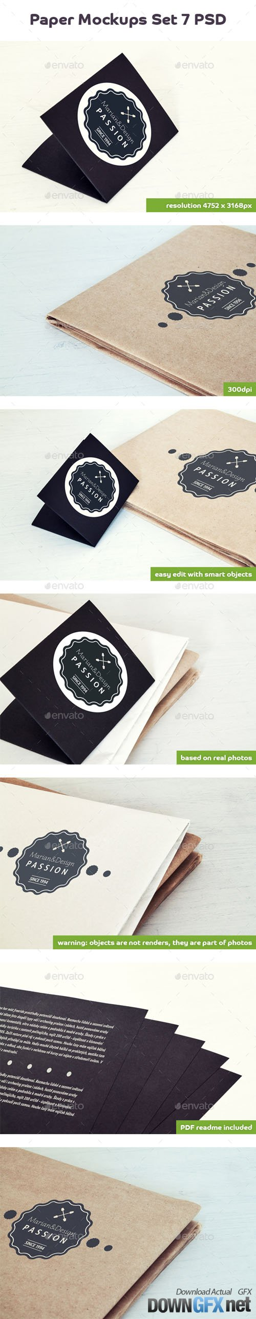 Paper Card and Paper Mock-Up 20282924