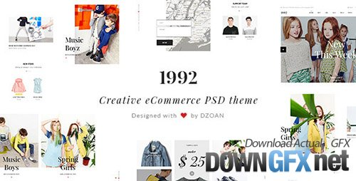 ThemeForest - 1992 - Creative eCommerce PSD Theme (Update: 30 March 15) - 10901011