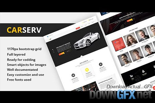CARSERV - Photoshop Web Template - CM 1605430