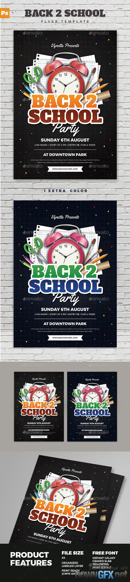 Back To School Party Flyer 17342069
