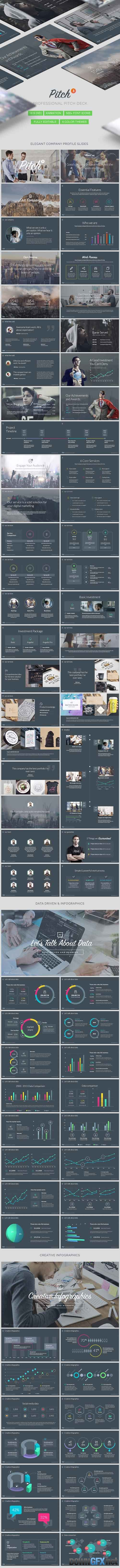 Pitch 3 - Professional Pitch Deck Keynote Template 20321974